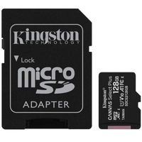 Kingston Karta pamięci microSD 128GB Canvas Select Plus 100MB/s Adapter