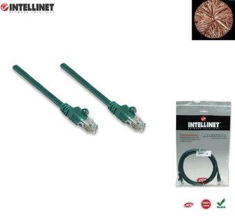 Patch Cord 100% miedź Intellinet Cat.5e UTP, 5m, zielony ICOC U5EB-050-GREE