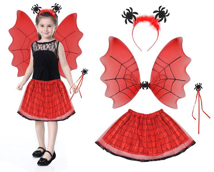 Strój Pajęczarka Wróżka Czarownica Halloween 4w1 6409 zdjęcie 1