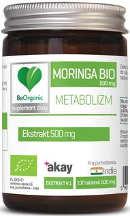 Moringa ekstrakt BIO, 500mg x 100 tabletek ALiness