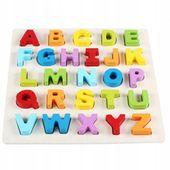 Klocki Alfabet drewniany literki układanka