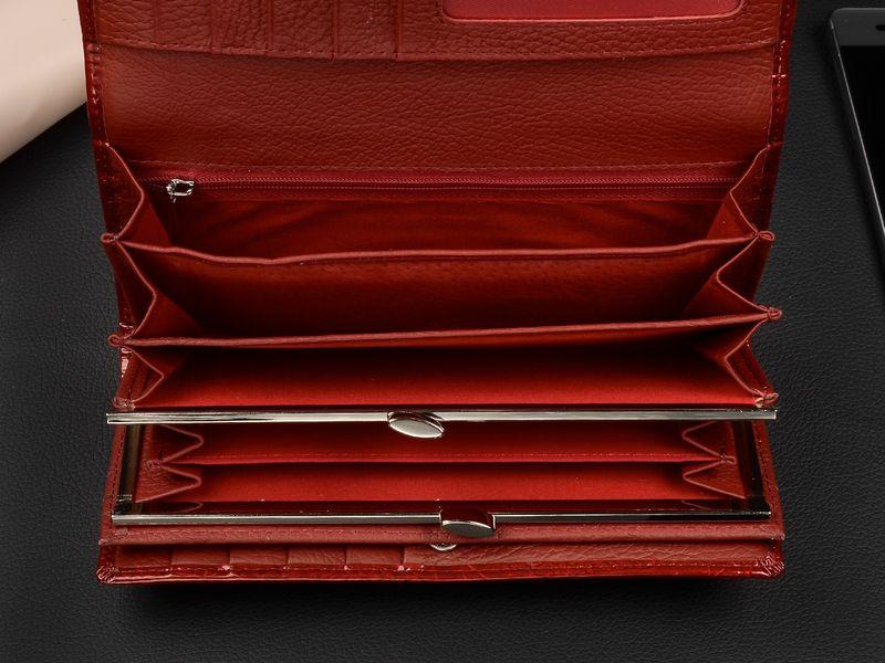 Duży damski portfel skórzany bigiel liście pudełko U68 zdjęcie 3