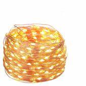 LAMPKI CHOINKOWE OZDOBNE MIKRO 100 LED 11metrów NA PRĄD DRUCIKI