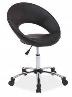 Fotel Q-128 do biurka DLA DZIECKA czarny EKO SKÓRA