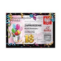 Zaproszenie na 18 urodziny Dowód - ZX8400