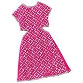 Barbie Modne Sukienki DWG08 Różowa Sukienka MATTEL FCT12