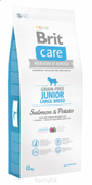 BRIT CARE GRAIN FREE JUNIOR LARGE SALMON & POTATO - 12KG