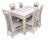 Stół i krzesła, krzesło, jadalnia, pokój, salon (DEX + 6xKD8) sonoma