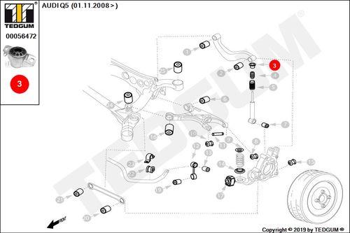 MOCOWANIE SPRĘŻYNY AMORTYZATOR AUDI RS5 8K0412109A