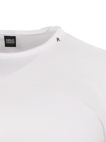 REPLAY Men's Printed Cotton Jersey T-Shirt White M34662660-001 - XXL zdjęcie 4