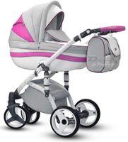 Różowo - Szary Stella Wiejar wózek dziecięcy wielofunkcyjny zestaw 3w1