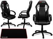Fotel obrotowy gamingowy KUBEŁKOWY dla gracza FLAME PRO-GAMER b