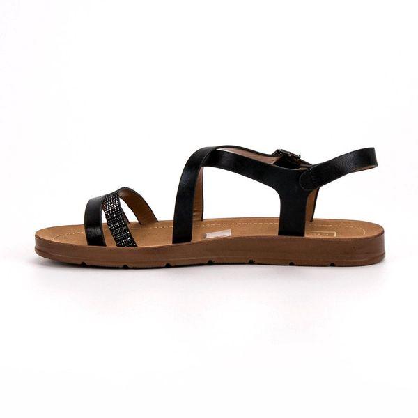 Czarne Sandały Z Kryształkami r.38 zdjęcie 6