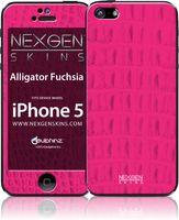 Nexgen Skins - Zestaw skórek na obudowę z efektem 3D iPhone SE (2016) / iPhone 5s / iPhone 5 (Alligator Fuchsia 3D)