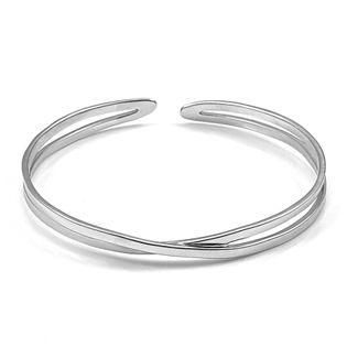 Modna bransoleta sztywna koło na drobną rękę