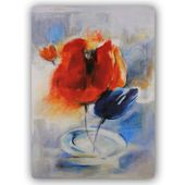 Wydruk na metalu, Bajkowe tulipany 40x60