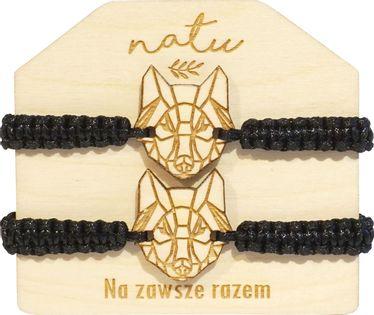 Zestaw bransoletek dla pary, przyjaciół WILKI hand made NATU