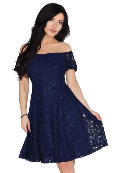 125dcc6dfb Elegancka Sukienka rozkloszowana koronkowa Midi na imprezę szykowna XL  zdjęcie 1