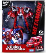 TRANSFORMER Robot AMBULANS Auto 2w1 Samochód ARTYK zdjęcie 5