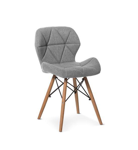 Poważnie Nowoczesne pikowane krzesło MILO 2 - jasno szare HIT 2018! eliot OY34