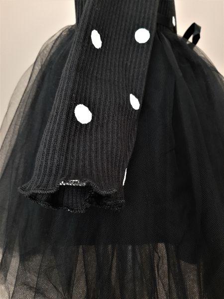 Puszysta CZARNA sukienka w Kropki z Tiulem 92/98 zdjęcie 6
