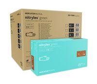 Rękawice nitrylowe nitrylex green XL karton 10 x 100 szt