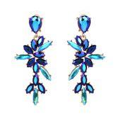 kolczyki HOLO blue KOBALT opal NIEBIESKIE długie 3-0089