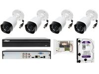 Zestaw monitoringu z 4 kamerami tubowymi IP67 3.7Mpx Dahua