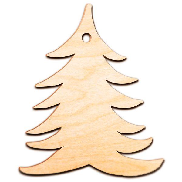 Decoupage Świąteczne CHOINKA Drewniana Zawieszka zdjęcie 3