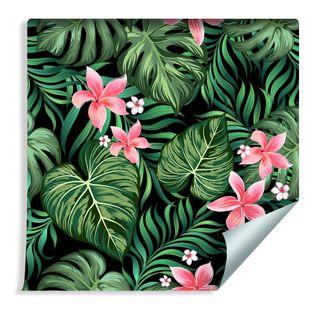 Tapeta w Rolce Liście Monstery Tropikalne Kwiaty
