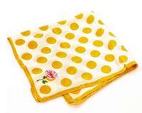 Chusta na głowę żółta musztardowa grochy MAZZINI ala moda