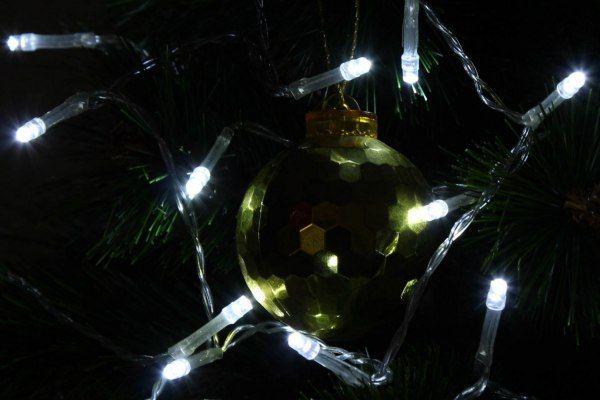 Lampki świąteczne 30 LED na baterie 3m zimny biały Joylight zdjęcie 9