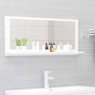 Lumarko Lustro łazienkowe, białe, 90x10,5x37 cm, płyta wiórowa