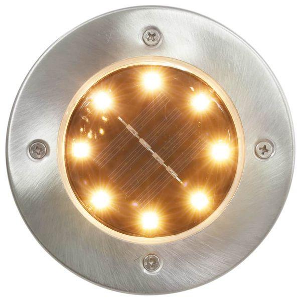 Solarne lampy gruntowe, 8 szt., ciepłe białe LED zdjęcie 2