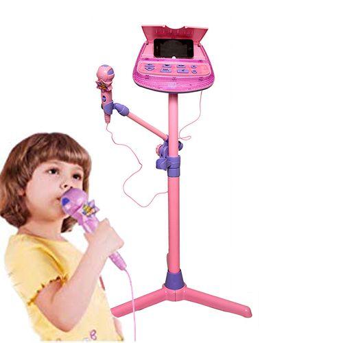 Mikrofon karaoke dla dzieci na statywie z melodiami jack 3,5mm Z119 na Arena.pl