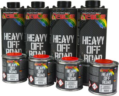 NewCar Heavy off Road 5001 CZARNY Super twarda powłoka nawierzchniowa 4x850g + utw.