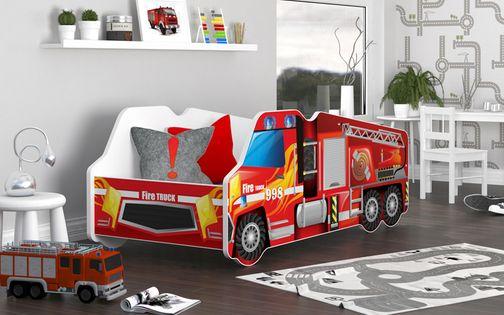 Łóżko dziecięce CIĘŻARÓWKA 140x70 SAMOCHÓD