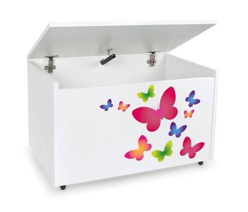 Mobilna skrzynia na zabawki duża Kolorowe motyle na Arena.pl