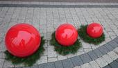 Kula ogrodowa Era 50cm kula dekoracyjna z żywicy poliestrowej czerwona zdjęcie 4