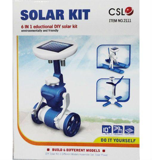 Roboty solarne 6w1 - wiatrak, helikopter, auto, robot zdjęcie 2
