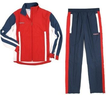 Dres męski bluza + spodnie Joma Danubio Microfibra 1000.06.100 czerwono-granatowy rozmiar S