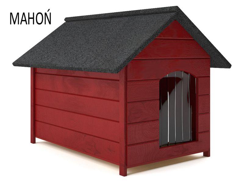 Różne kolory drewniana ocieplana buda dla psa XL solidna 60KG +kurtyna zdjęcie 4