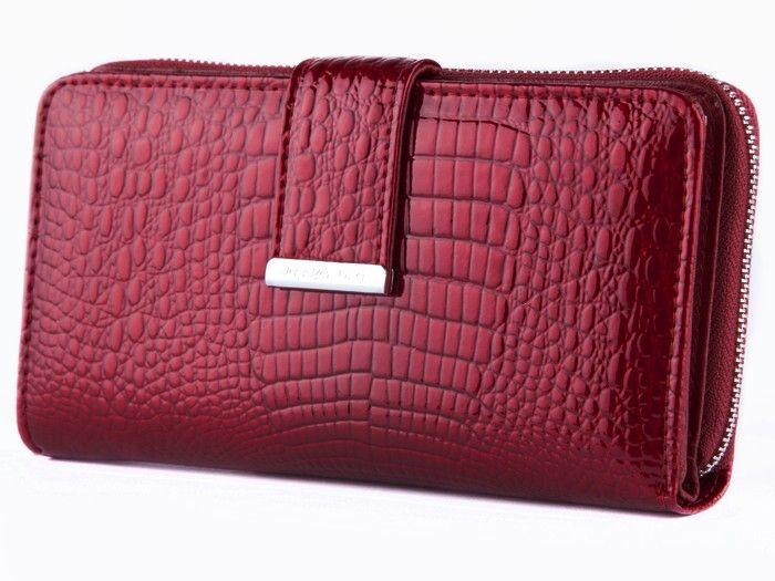 Jennifer Jones portfel Skórzany damski Duży Lakierowany na suwak E72 zdjęcie 1