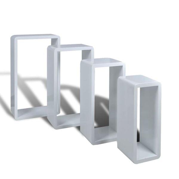 Półki Wiszące Mdf X4 Białe