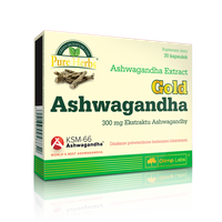 OLIMP Ashwagandha gold (premium)  30 kapsułek - Długi termin ważności!