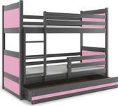 Łóżko dla dzieci piętrowe dziecięce RICO dziecko 200x90 + STELAŻ