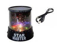 PROJEKTOR GWIAZD STAR MASTER LAMPKA NOCNA LEDOWA Z Kablem USB