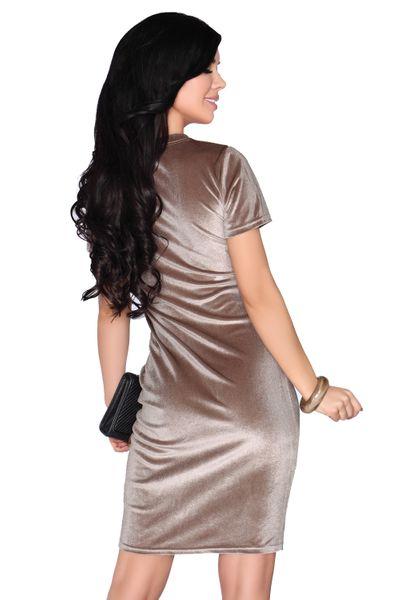 Elegancka Sukienka obcisła aksamitna Mini szykowna i wygodna XL zdjęcie 4