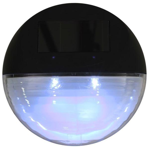 Ścienne Lampy Solarne Led Na Zewnątrz, 12 Szt, Okrągłe, Czarne zdjęcie 7