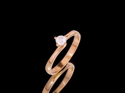 P630 Złoty pierścionek z cyrkonią. Próba 585